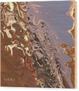 Sand Bank Wood Print