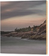 Sand Beach, Acadia Wood Print