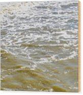 Sand Beach And Wave 4 Wood Print