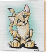Sand Cat Wood Print