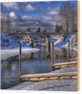 Sand Creek Winter Wood Print