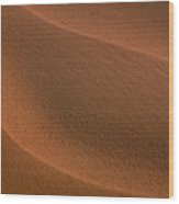 Sand Curves Wood Print