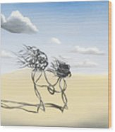 Sand Dance Mother And Child  Wood Print