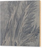 Sand Drawing 1 Wood Print