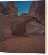 Sand Dune Arch Wood Print