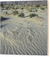 Sand Dunes And San Ysidro Mountains Wood Print