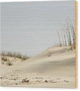 Sand Dunes And Sea Oats Wood Print