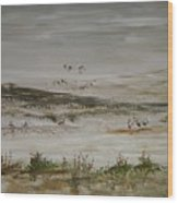 Sand Dunes Of The Pacific Wood Print