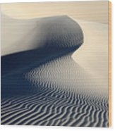 Sand Dunes Patterns In Death Valley Wood Print