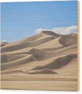 Sand Dunes Wood Print