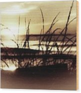 Sand Dunes Sunset Wood Print