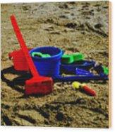 Sand Fun 1 Wood Print