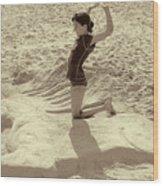 Sand Horse Wood Print
