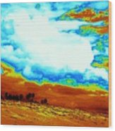 Sand In The Sky Wood Print
