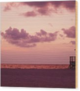 Sand Key Sunset Wood Print