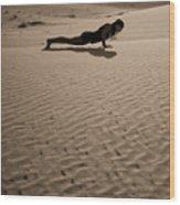 Sand Plank Wood Print