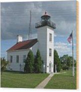 Sand Point Lighthouse Wood Print