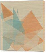 Sand Polygon Pattern Wood Print