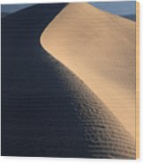 Sand Sculptures In Death Valley Wood Print
