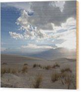Sand Sun Wood Print
