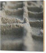 Sand Tracks Wood Print