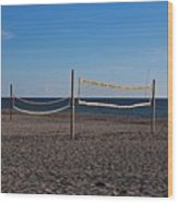 Sand Volleyball Wood Print