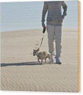 Sand Walk Wood Print
