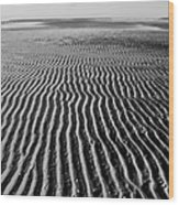 Sandbar Patterns Wood Print