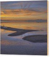Sandbar Sunset Wood Print