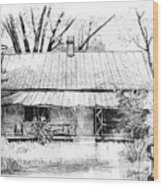 Sandersville Road Farmhouse Wood Print