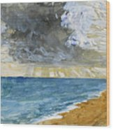 Sandgate Beach. Kent  Wood Print