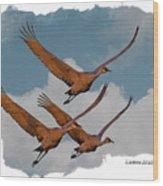 Sandhill Cranes 3 Wood Print