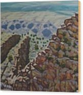 Looking Down From The Sandia Mountains Wood Print