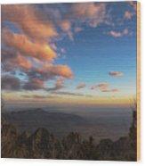 Sandia Peak Wood Print