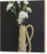 Sandi's Leaf Vase Wood Print