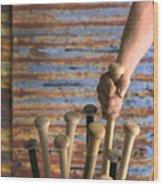 Sandlot Baseball Wood Print by Vance Fox
