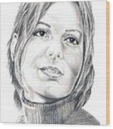 Sandra Bullock Wood Print