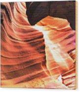Sandstone And Dust Wood Print