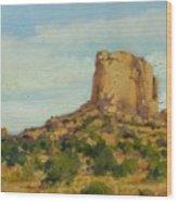 Sandstone Butte Navajo Country Wood Print