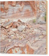 Sandstone Colors In Wash 3 - Valley Of Fire Wood Print