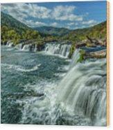 Sandstone Falls New River  Wood Print