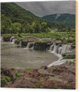 Sandstone Falls Wood Print