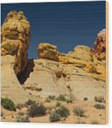 Sandstone Fortress Valley Of Fire Wood Print