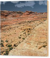 Sandstone Landscape Valley Of Fire Wood Print