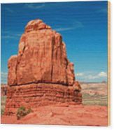 Sandstone Monolith, Courthouse Towers, Arches National Park Wood Print