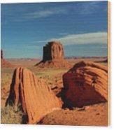 Sandstone Near And Far Wood Print