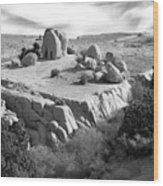 Sandstone Plateau Wood Print