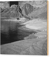 Sandstone Shoreline And Cliffs Lake Powell Wood Print