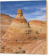 Sandstone Tent Rock Wood Print