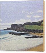 Sandy Beach Oahu Wood Print